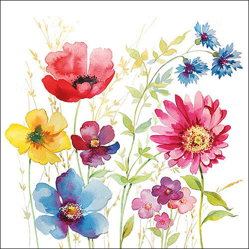 Decoupage Napkins aquarell meadow