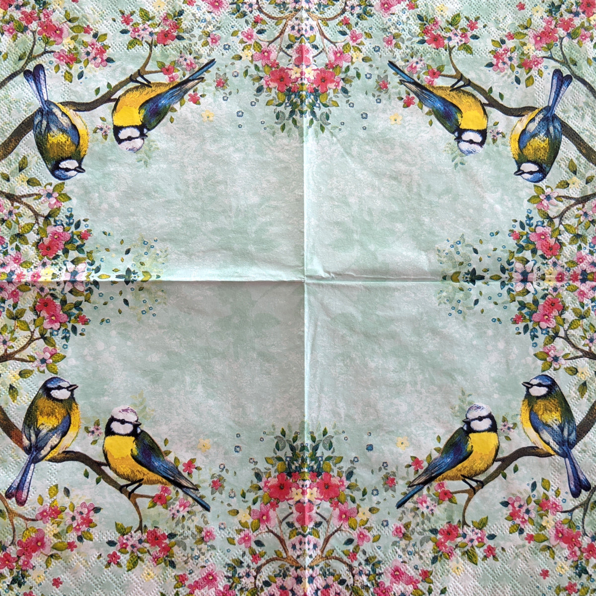Bird Watching Green Decoupage Napkins
