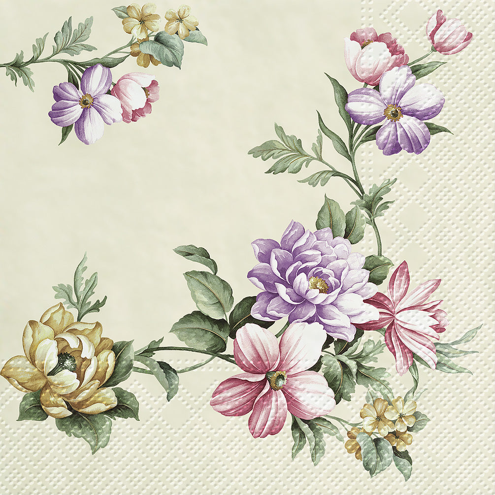 napkins for decoupage elegant garland