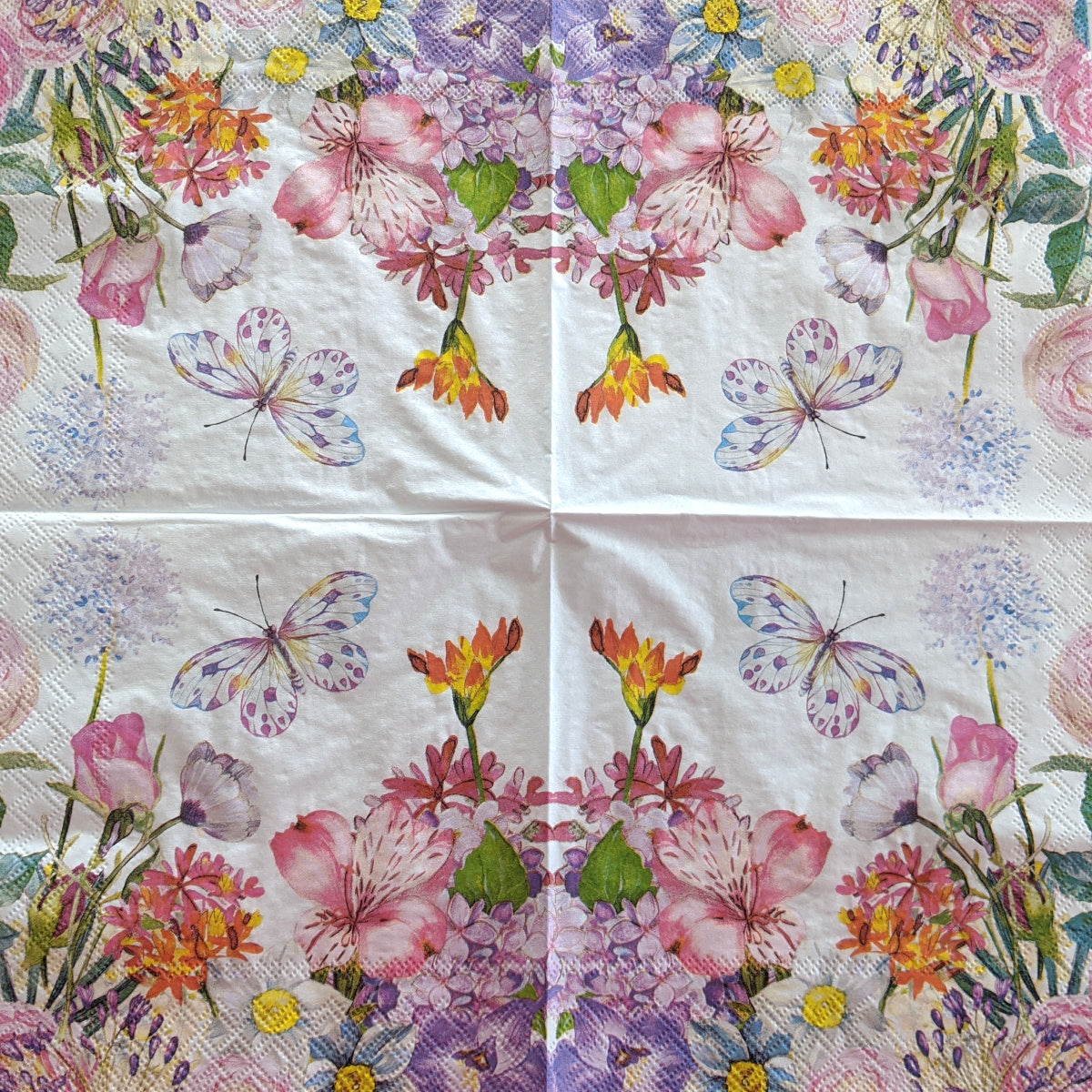 Flowergarden Napkin for Decoupage