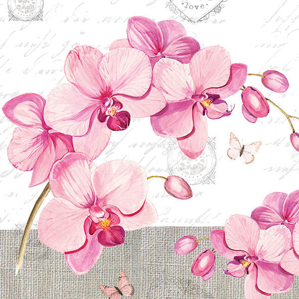 Decoupage Napkins Orchids with Love