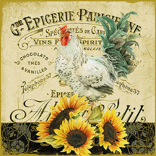 Decoupage Napkins Rooster and Sunflower