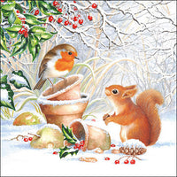 Decoupage Napkins Winter Picture
