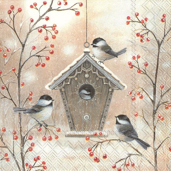 ninnys napkins for decoupage beautiful birdhouse