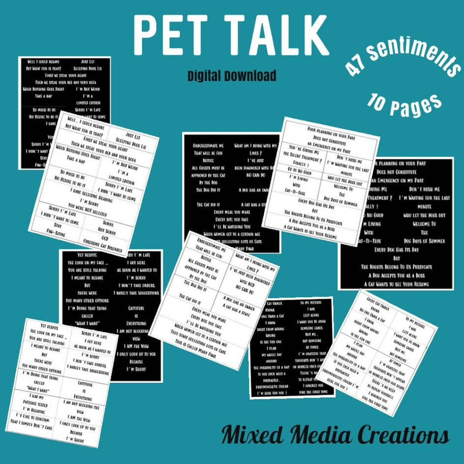 Pet Talk Sentiment Pack