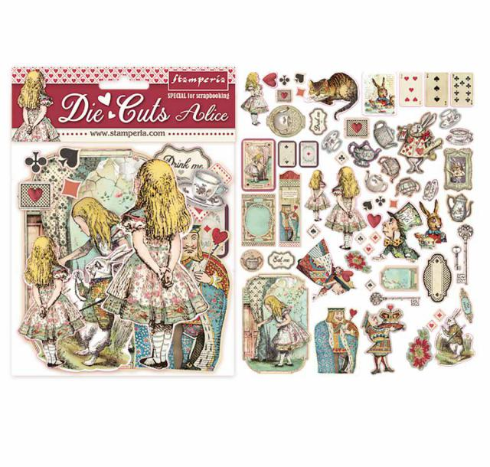 Stamperia Alice Die Cuts