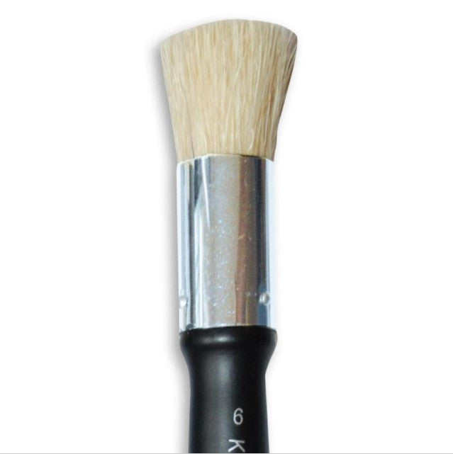 Stamperia Oblique Shaped Stencil Paint Brush Size 6