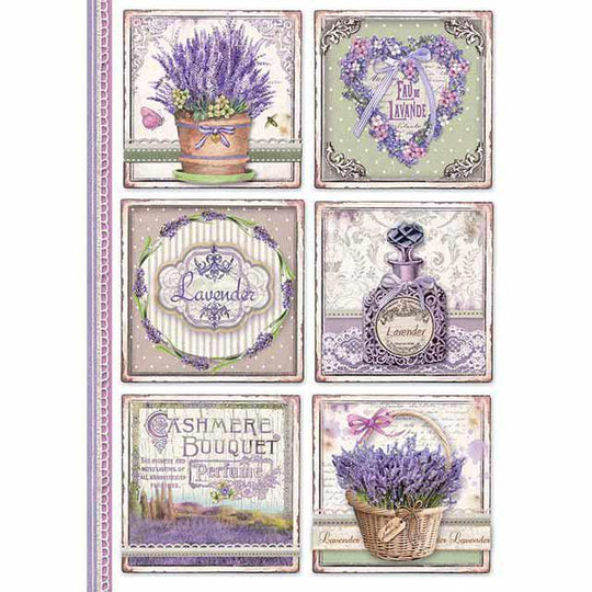 stamperia rice paper for decoupage provence cards
