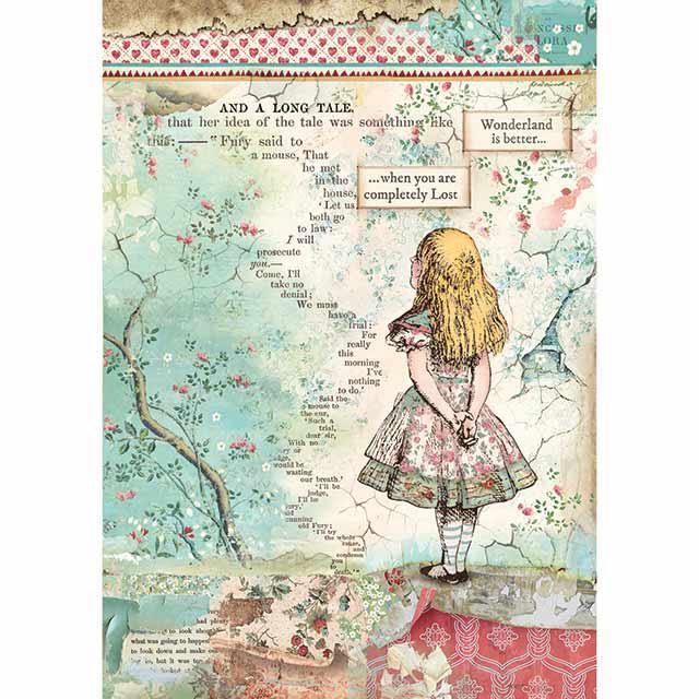 Alice rice paper for decoupage Stamperia