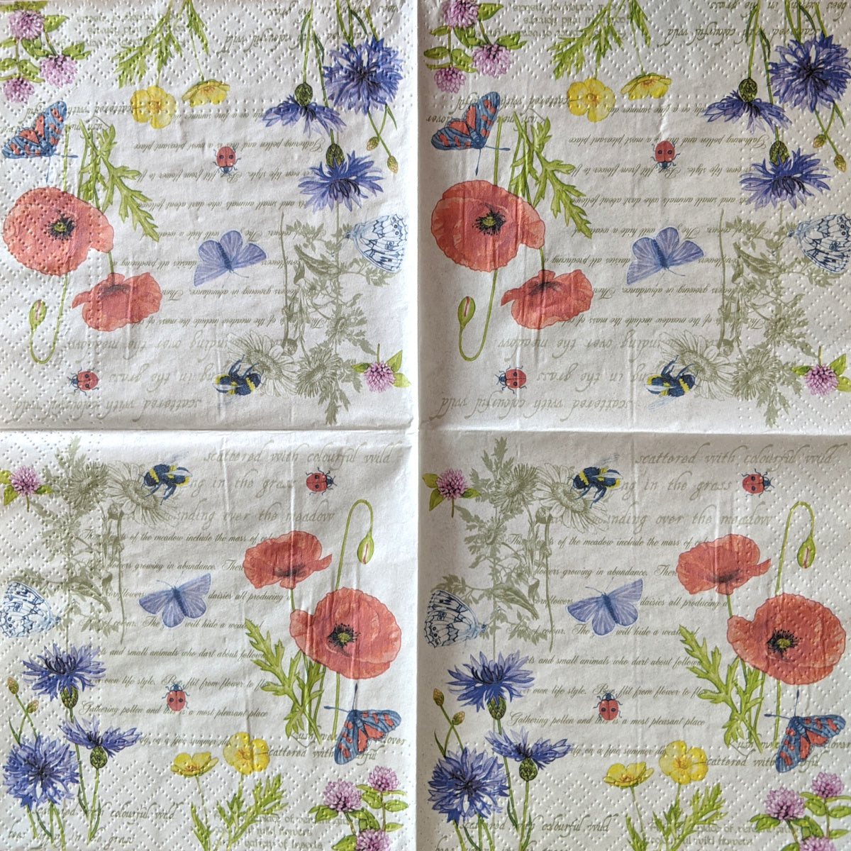Vintage Summer Napkins for Decoupage