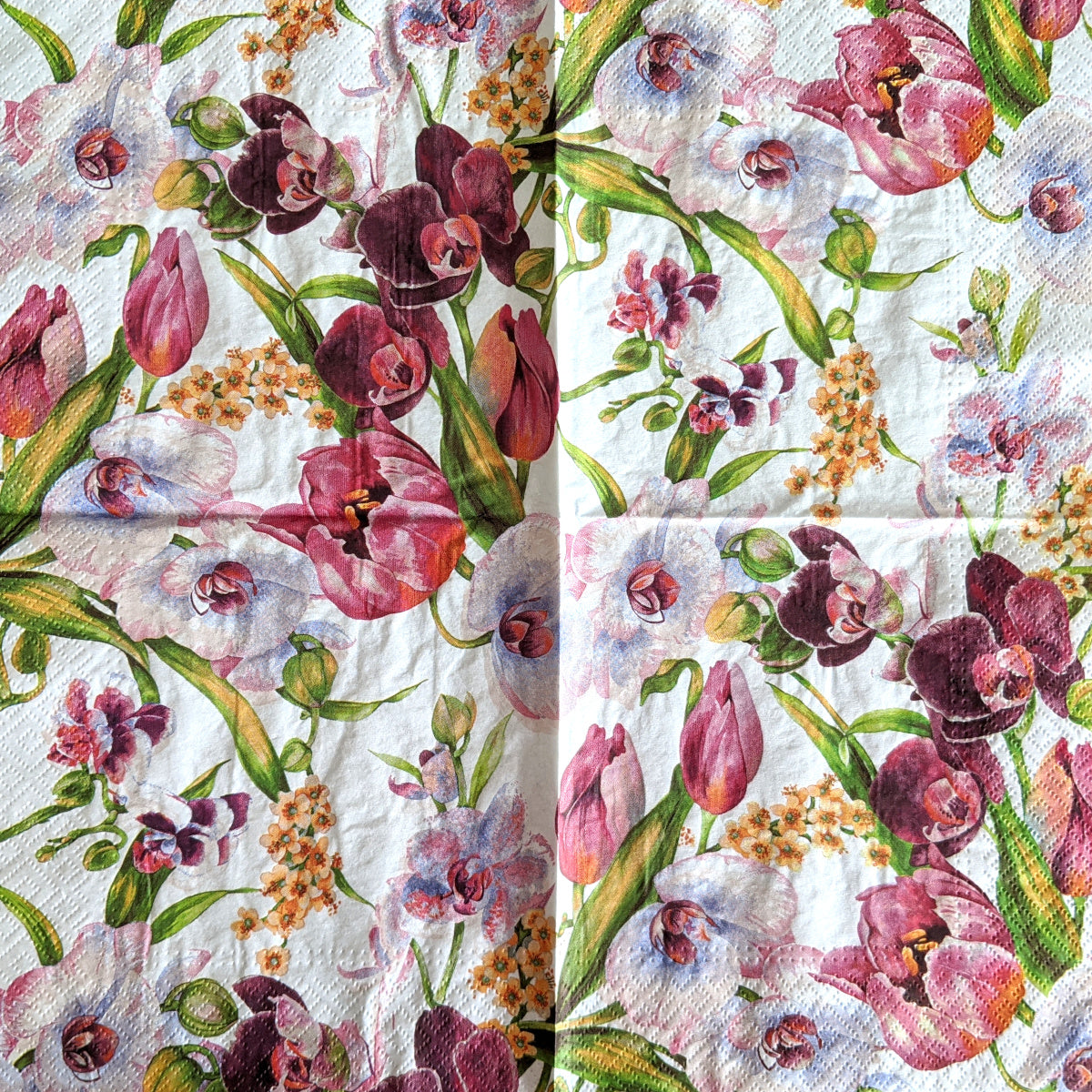 Violet Charm Orchid Napkins for Decoupage