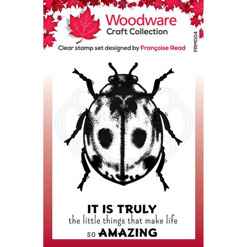 woodware collection acrylic stamps little ladybird