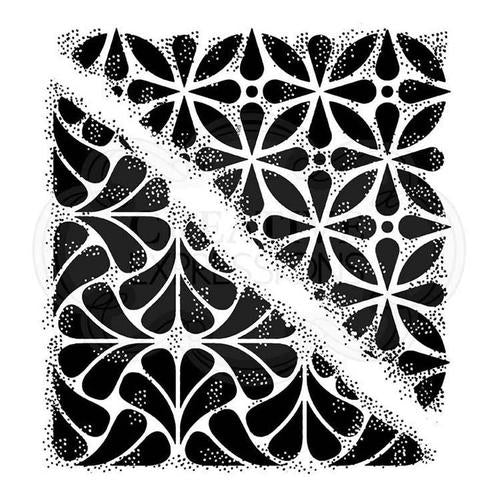 woodware craft collection clear acrylic stamp tile corners