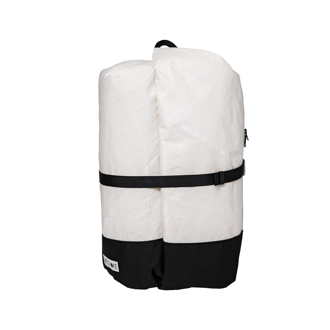 Classic White Travel Backpack - Medium - ARTICHOKE BAGS