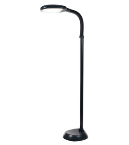 "Lash Extension Illuminating Floor Lamp (60"") - Black, White"