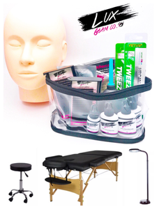 "Eyelash Extension ""Deluxe"" Kit + Manneqin + 3pc Beauty Salon Furniture Bundle - SALE"