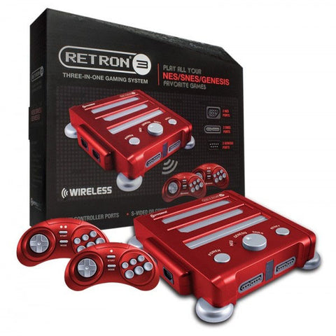 Hyperkin Retro N3 Gaming Console for Nintendo SNES/NES/Genesis - Vector Red