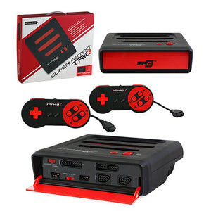 Super RetroTRIO Console NES/SNES/Genesis 3 in 1 System Red/Black