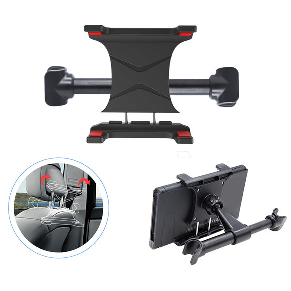 Dobe TNS-19225 Car Headrest Mount - Lightweight, Easy-to-Mount, Adjustable Bracket for Nintendo Switch, Mobile Phones, Tablets | Gaming Gadgets & Accessories