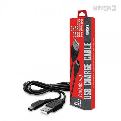 Armor3 USB Charge Cable for New 2DS XL/ New 3DS/ New 3DS XL/ 2DS/ 3DS XL/ 3DS/ DSi XL/ DSi