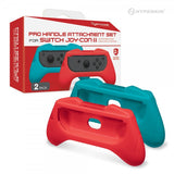 Hyperkin Pro Handle Attachment Set for Switch Joy-Con (Blue/ Red) (2-Pack)