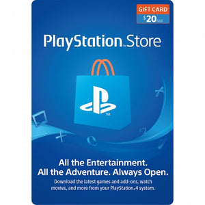 Playstation Plus Store GiftCard $50 $20 $10