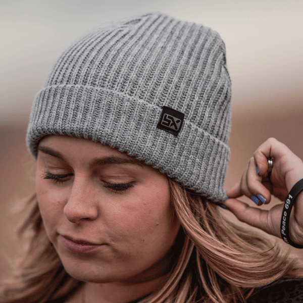 Supercross Beanie | Reversible Gray Supercross Beanie