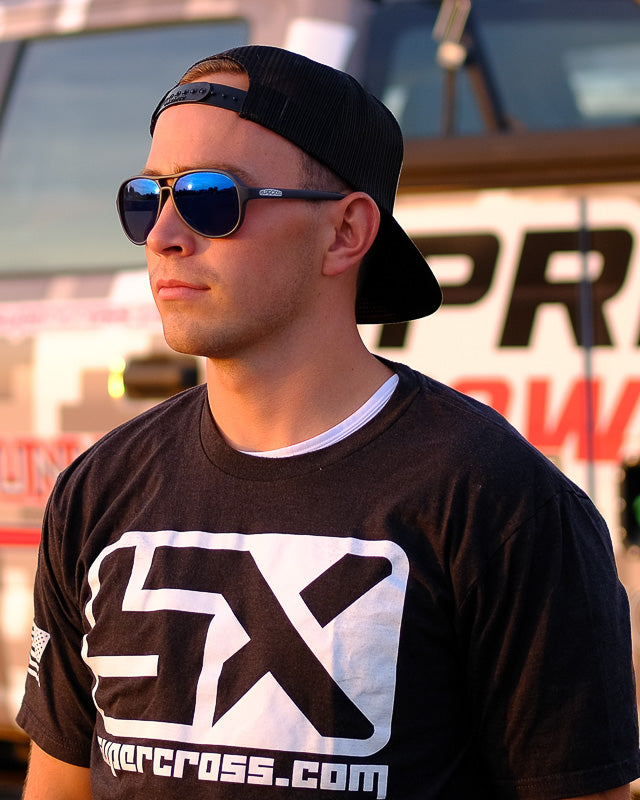 Supercrosscom T-shirt Black | Black SX Block Tee
