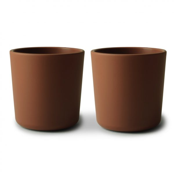 MUSHIE DINNERWARE CUP - SET OF 2 - CARAMEL