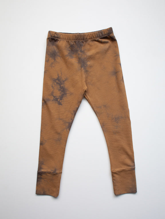 THE SIMPLE FOLK THE TIE-DYE LEGGING - RUST