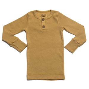 KIDWILD ORGANIC VINTAGE LONG SLEEVE TOP - OCHRE