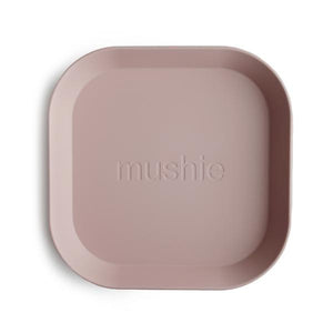 MUSHIE SQUARE DINNER PLATES - SET OF 2 - BLUSH