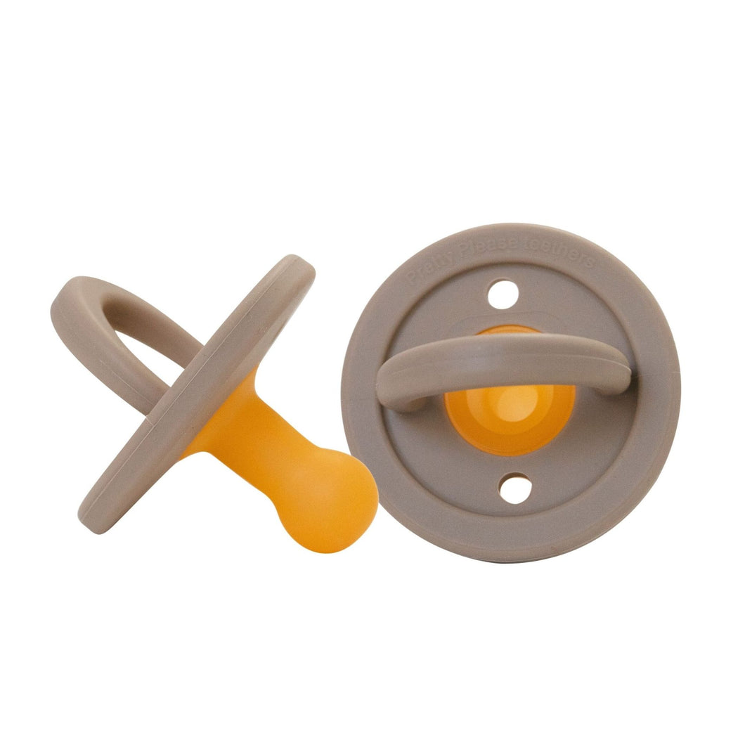 PRETTY PLEASE TEETHERS  MODERN PACIFIER - WARM TAUPE
