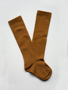 THE SIMPLE FOLK THE RIBBED SOCK - BRONZE