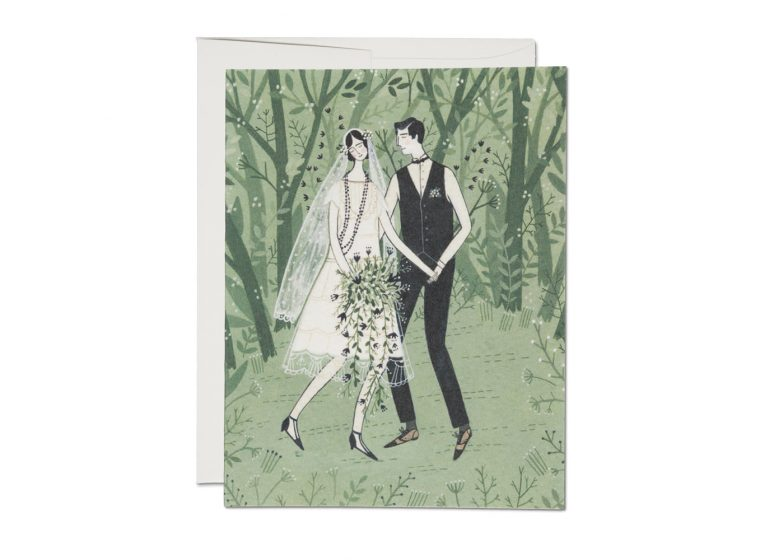 MAN AND WIFE WEDDING CARD