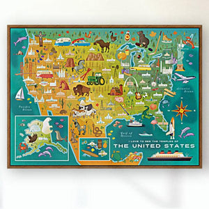 2-POSTER PACK: World + US Temple Map Posters