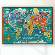 Load image into Gallery viewer, 2-POSTER PACK: World + US Temple Map Posters