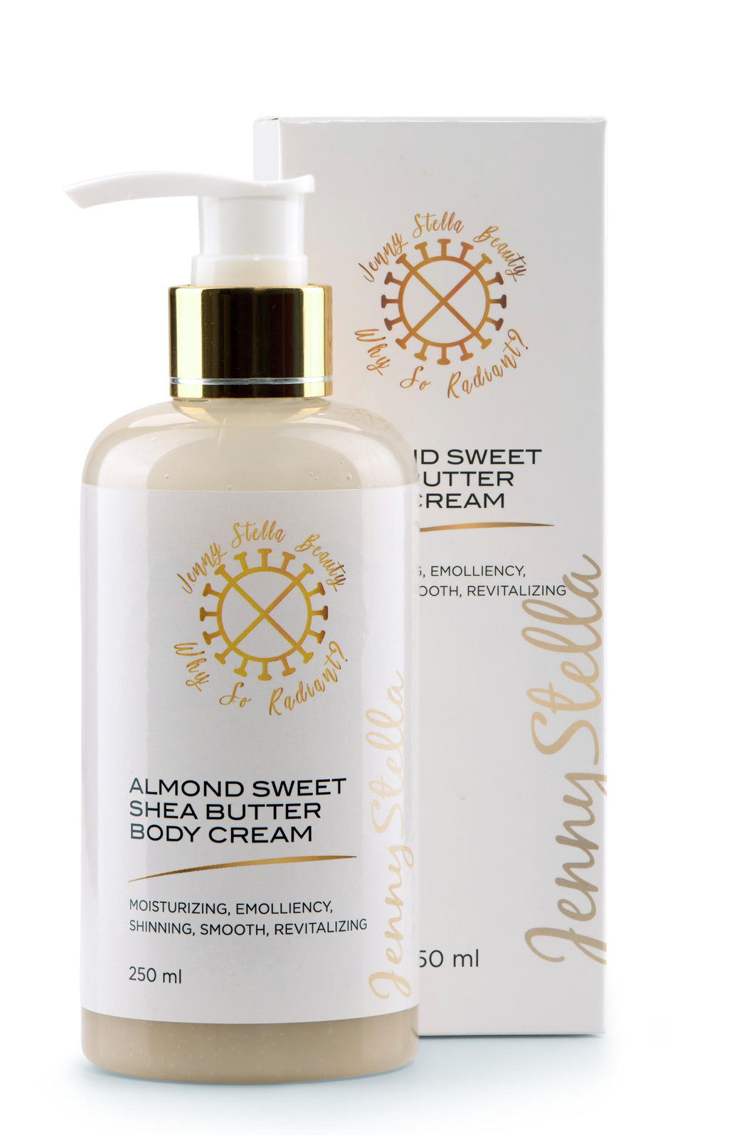 Almond Sweet Shea Butter Body Cream 250ml - Jennystellabeauty