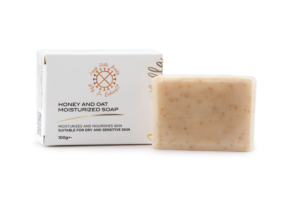 Honey and Oat Organic Soap 100g+- - Jennystellabeauty