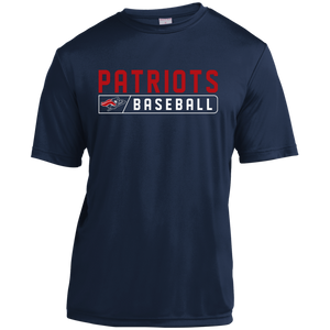 Patriots Baseball Bar Logo (red) Youth Moisture-Wicking T-Shirt