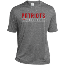 Load image into Gallery viewer, Patriots Bar Logo (red) Tall Heather Dri-Fit Moisture-Wicking T-Shirt