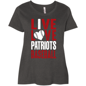 I Live/Love Patriots Baseball Ladies' Curvy T-Shirt