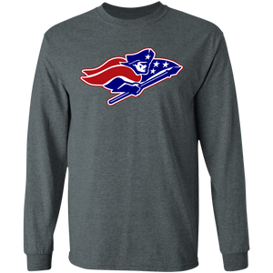 Patriots Logo (red/Blue) LS Ultra Cotton T-Shirt
