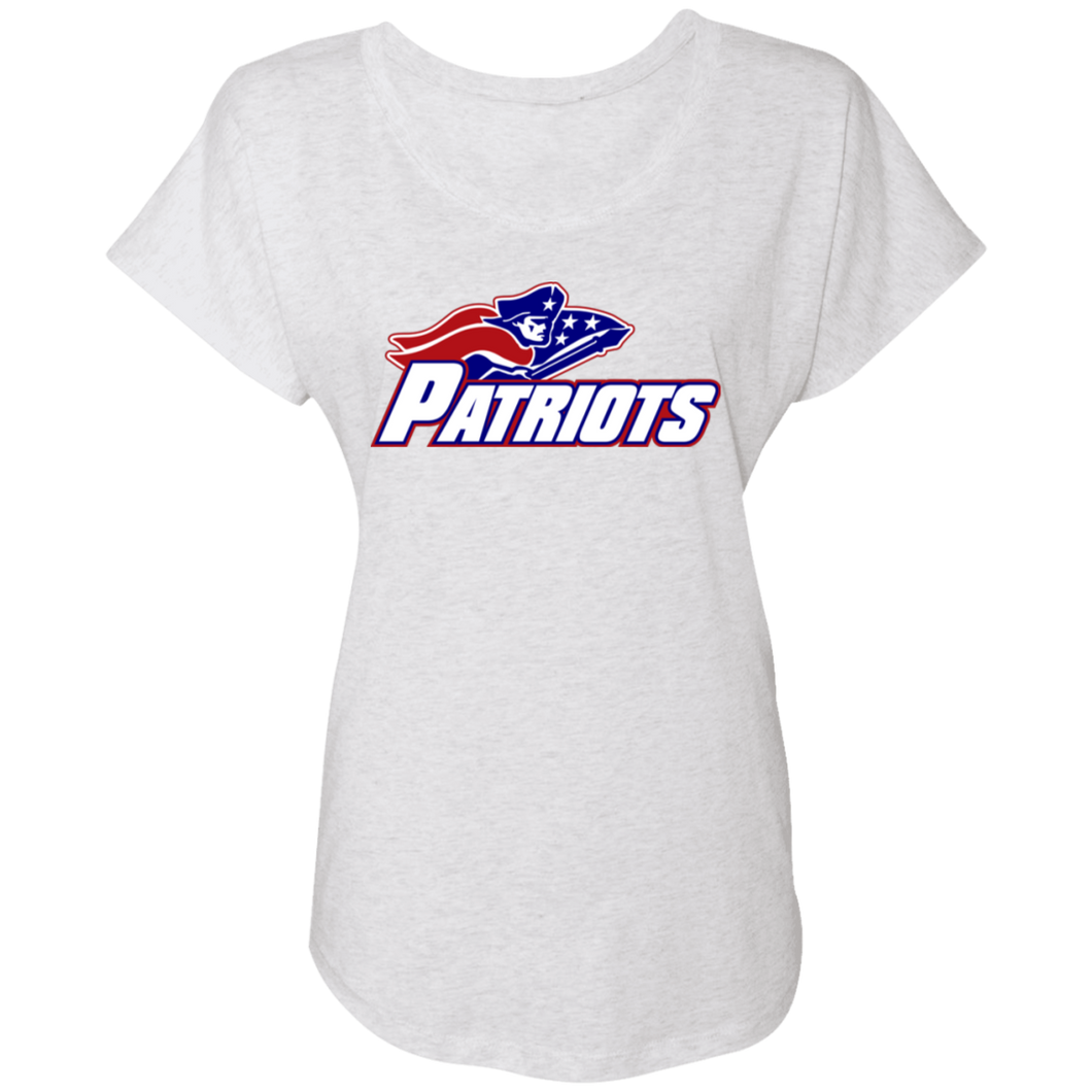 Patriots Logo (blue) Ladies' Triblend Dolman Sleeve