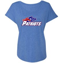 Load image into Gallery viewer, Patriots Logo (blue) Ladies' Triblend Dolman Sleeve