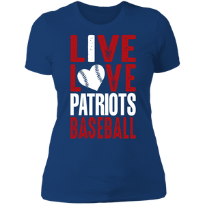 I Live Love Patriots Baseball Ladies' Boyfriend T-Shirt