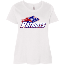 Load image into Gallery viewer, Patriots Logo (blue) Ladies' Curvy T-Shirt