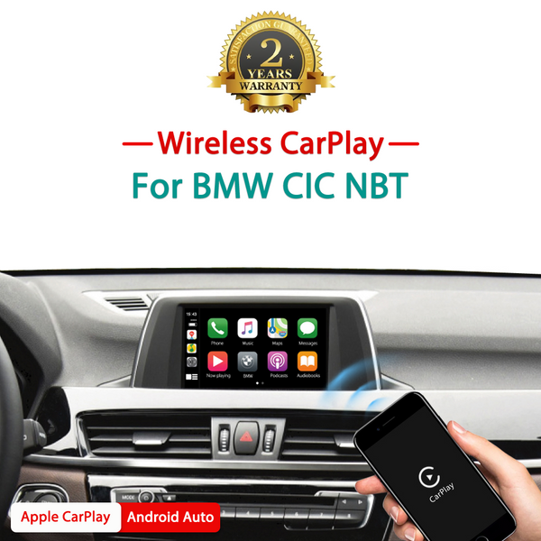 Wireless Apple Carplay / Android auto interface box  For BMW CIC NBT EVO MiNi/X1/X3/X4/X5/X6 1 2 3 4 5 6 7 Series