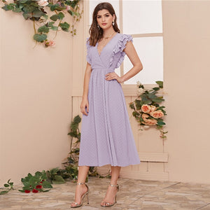 Surplice Romantic Dress
