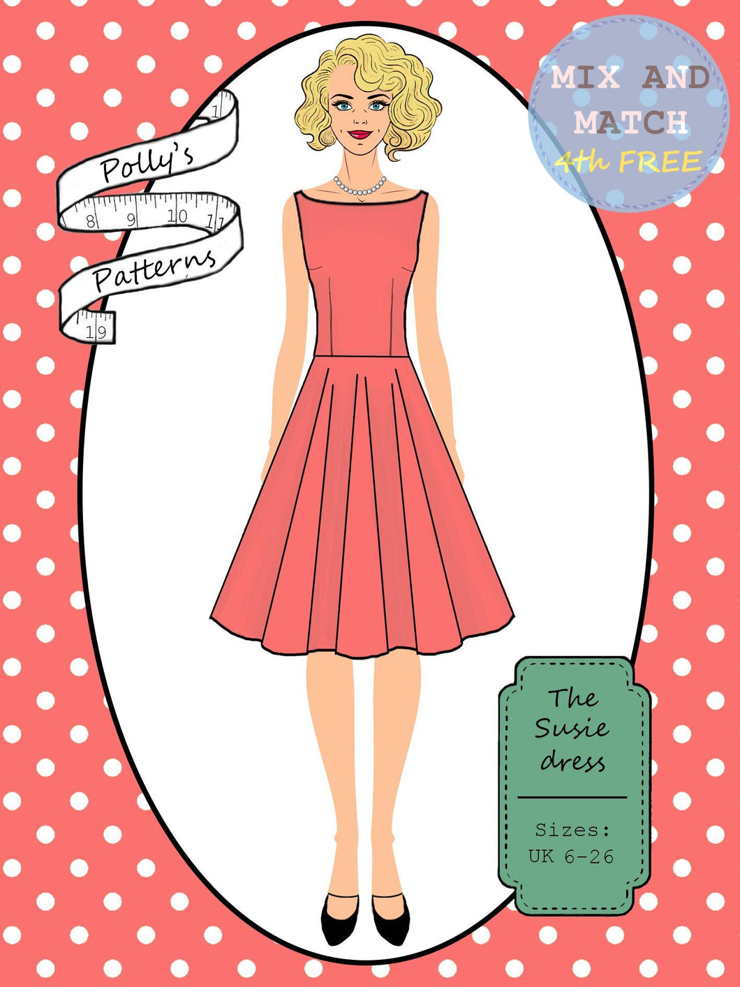 Copy of Polly's patterns - The Susie Dress - Pattern Shop